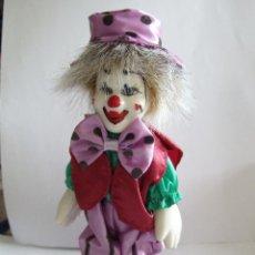 Muñecas Porcelana: PAYASO PORCELANA - PINTADO A MANO - NOSTALGIA MINT - DOLLS COLLECTION - 15 CM. Lote 54589389