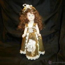 Muñecas Porcelana: REEDICION PEQUEÑA MUÑECA DE PORCELANA CLASICA. Lote 54625973
