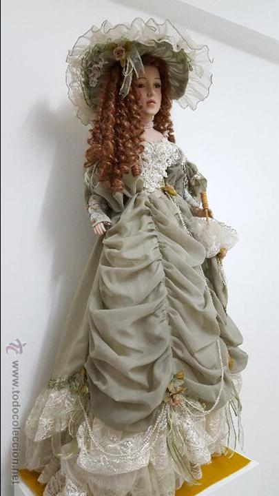 PRECIOSA Y MUY GRANDE MUÑECA DE PORCELANA.(113CM) (Juguetes - Muñeca Extranjera Moderna - Porcelana)