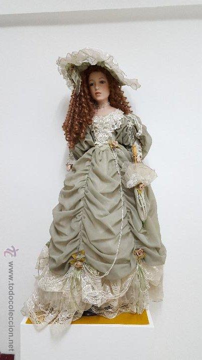 Muñecas Porcelana: Preciosa y muy grande muñeca de porcelana.(113cm) - Foto 2 - 54812074