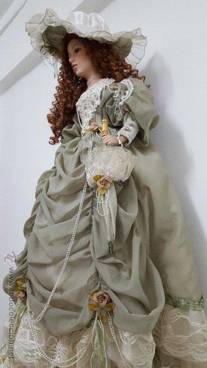 Muñecas Porcelana: Preciosa y muy grande muñeca de porcelana.(113cm) - Foto 4 - 54812074
