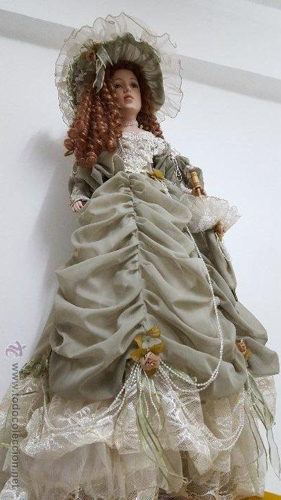 Muñecas Porcelana: Preciosa y muy grande muñeca de porcelana.(113cm) - Foto 6 - 54812074