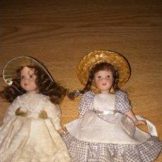 Muñecas Porcelana: PAREJA DE MUÑECAS DE PORCELANA. Lote 54864805