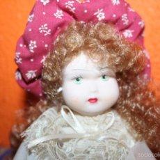 Muñecas Porcelana: MUÑECA DE PORCELANA MARCADA CAPODIMONTE. Lote 55882305