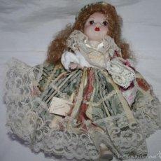 Muñecas Porcelana: MUÑECA ITALIANA DE PORCELANA CAPODIMONTE CON EL CERTIFICADO DE GARANTIA. Lote 56232574