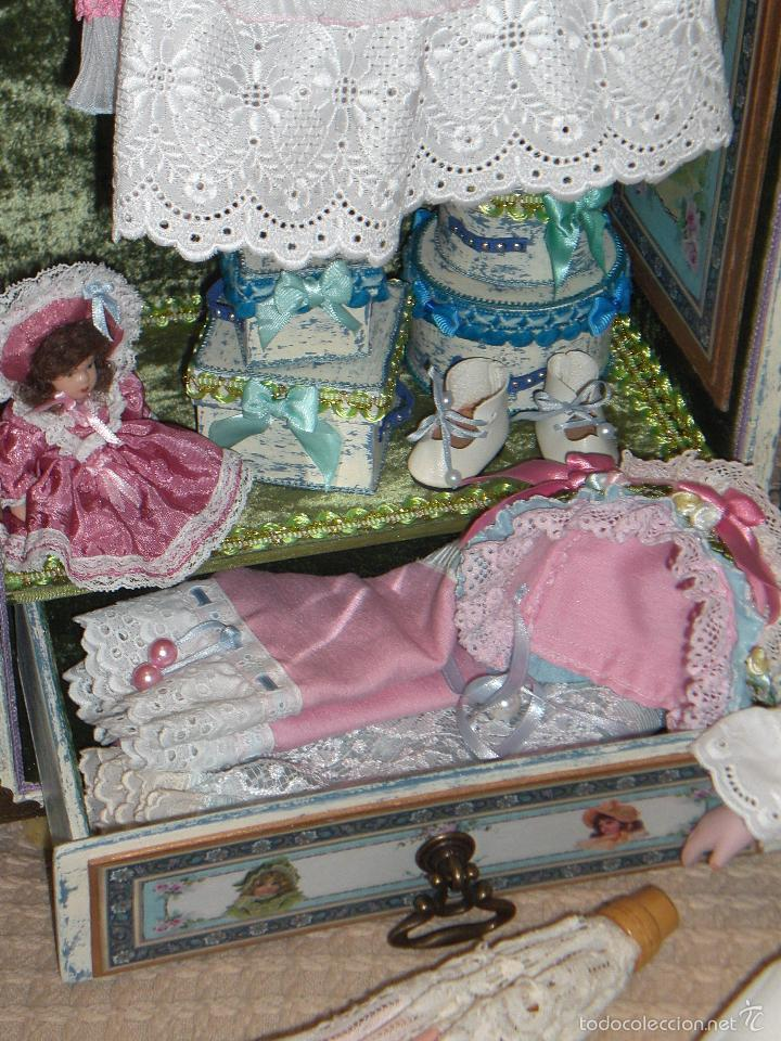 Muñecas Porcelana: ARMARIO MUÑECA DE PORCELANA, MUÑECA ANTIGUA, ARMARIO DE JUGUETE, JUGUETE CLASICO - Foto 6 - 56318065