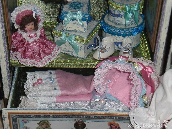 Muñecas Porcelana: ARMARIO MUÑECA DE PORCELANA, MUÑECA ANTIGUA, ARMARIO DE JUGUETE, JUGUETE CLASICO - Foto 7 - 56318065