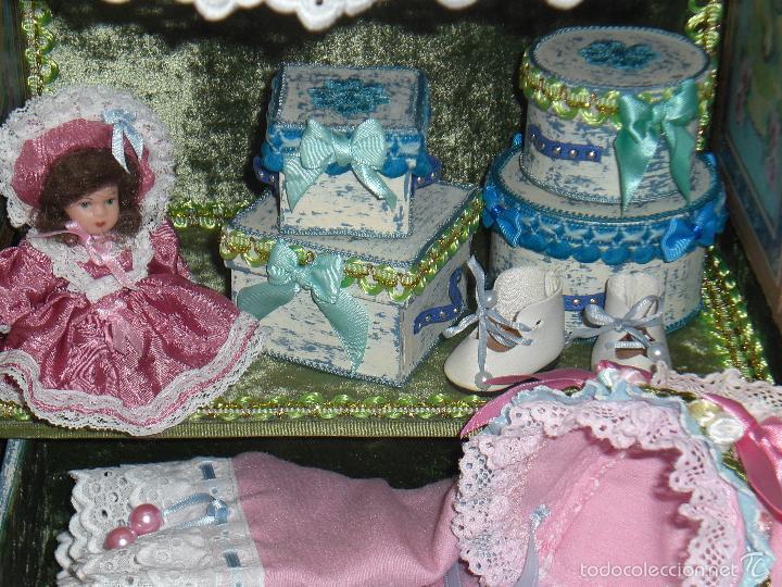 Muñecas Porcelana: ARMARIO MUÑECA DE PORCELANA, MUÑECA ANTIGUA, ARMARIO DE JUGUETE, JUGUETE CLASICO - Foto 8 - 56318065