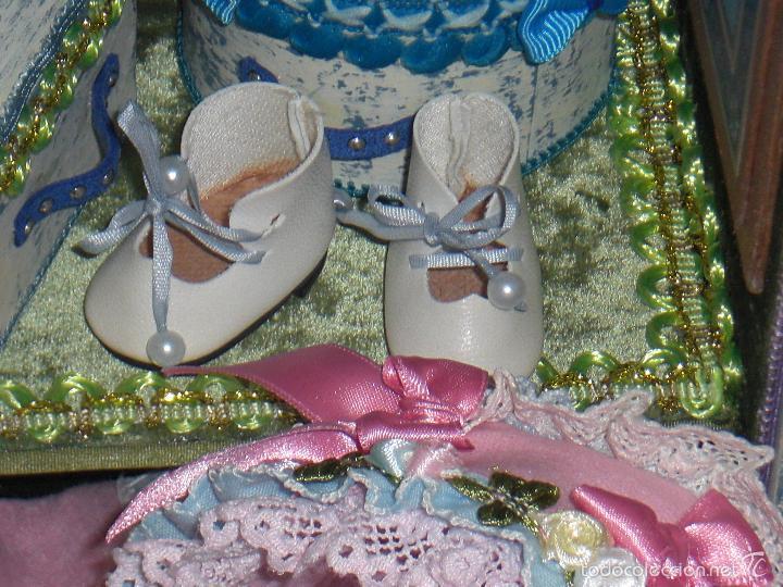 Muñecas Porcelana: ARMARIO MUÑECA DE PORCELANA, MUÑECA ANTIGUA, ARMARIO DE JUGUETE, JUGUETE CLASICO - Foto 11 - 56318065