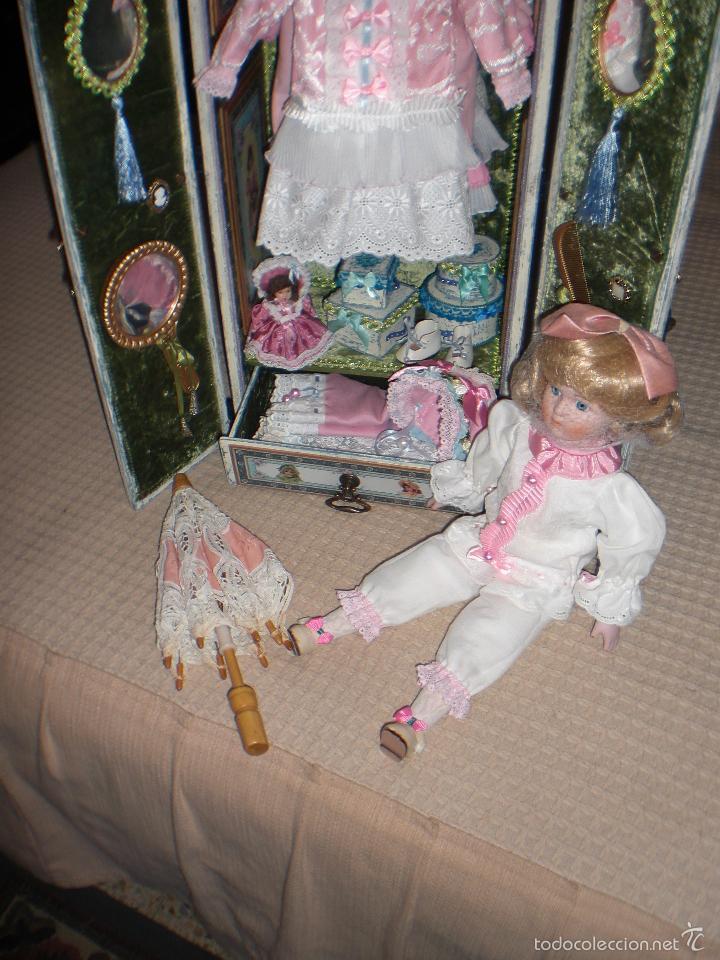Muñecas Porcelana: ARMARIO MUÑECA DE PORCELANA, MUÑECA ANTIGUA, ARMARIO DE JUGUETE, JUGUETE CLASICO - Foto 15 - 56318065
