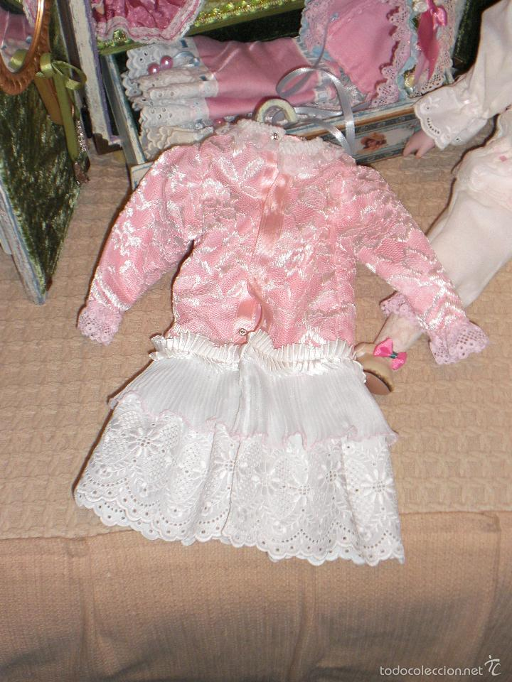 Muñecas Porcelana: ARMARIO MUÑECA DE PORCELANA, MUÑECA ANTIGUA, ARMARIO DE JUGUETE, JUGUETE CLASICO - Foto 22 - 56318065