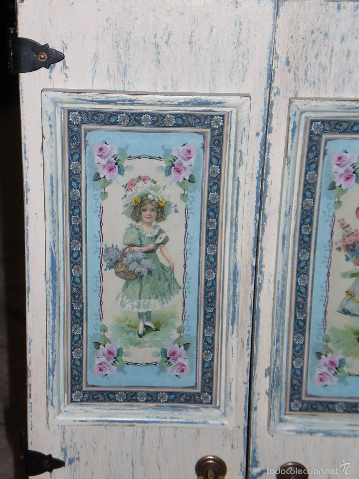 Muñecas Porcelana: ARMARIO MUÑECA DE PORCELANA, MUÑECA ANTIGUA, ARMARIO DE JUGUETE, JUGUETE CLASICO - Foto 41 - 56318065