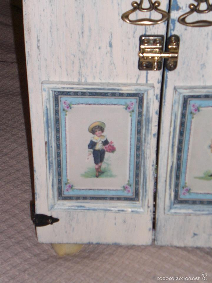 Muñecas Porcelana: ARMARIO MUÑECA DE PORCELANA, MUÑECA ANTIGUA, ARMARIO DE JUGUETE, JUGUETE CLASICO - Foto 43 - 56318065