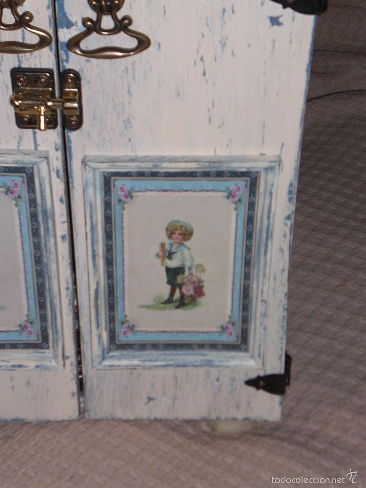 Muñecas Porcelana: ARMARIO MUÑECA DE PORCELANA, MUÑECA ANTIGUA, ARMARIO DE JUGUETE, JUGUETE CLASICO - Foto 44 - 56318065