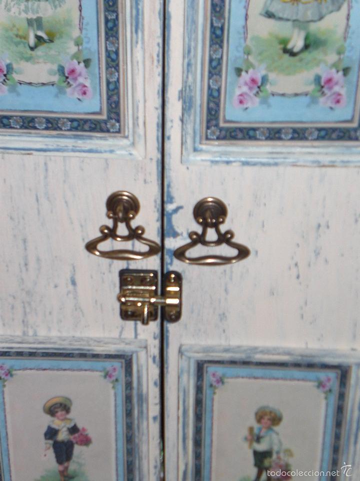 Muñecas Porcelana: ARMARIO MUÑECA DE PORCELANA, MUÑECA ANTIGUA, ARMARIO DE JUGUETE, JUGUETE CLASICO - Foto 45 - 56318065