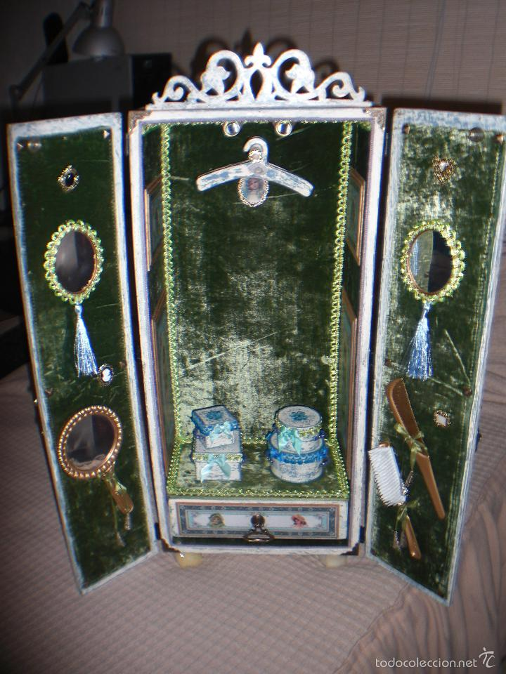Muñecas Porcelana: ARMARIO MUÑECA DE PORCELANA, MUÑECA ANTIGUA, ARMARIO DE JUGUETE, JUGUETE CLASICO - Foto 48 - 56318065