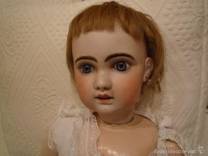 Muñecas Porcelana: Enorme muñeca antigua JUNEAU (83 cm)con cabeza de porcelana y cuerpo carton 1890 a 1900 - Foto 5 - 56731776
