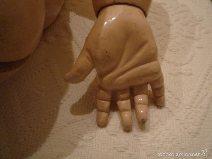 Muñecas Porcelana: Enorme muñeca antigua JUNEAU (83 cm)con cabeza de porcelana y cuerpo carton 1890 a 1900 - Foto 14 - 56731776