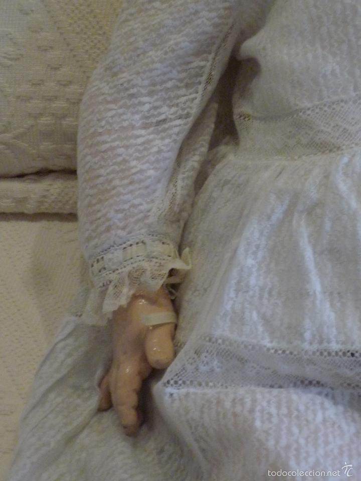 Muñecas Porcelana: Enorme muñeca antigua JUNEAU (83 cm)con cabeza de porcelana y cuerpo carton 1890 a 1900 - Foto 18 - 56731776