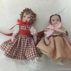 Muñecas Porcelana: 2 MUÑECAS DE PORCELANA. Lote 56893491