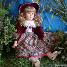Muñecas Porcelana - PRECIOSA MUÑECA DE PORCELANA -''ANNIE'' MARCA SYMPHONY DOLLS- MARCADA EN LA NUCA - AÑOS 80 - 57471023