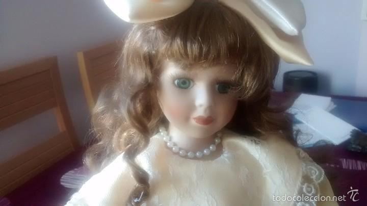 MUÑECA DE PORCELANA AÑOS 80 (Juguetes - Muñeca Extranjera Moderna - Porcelana)