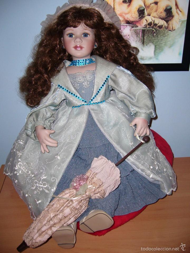 Muñecas Porcelana: MUÑECA PORCELANA-NAVIDAD.-COLECCIÓN-NUEVA-BODA-REGALO-COMUNIÓN-GRANDE-PRECIOSA - Foto 5 - 58161511