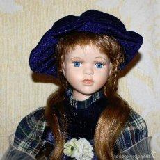 Muñecas Porcelana: MUÑECA VICTORIANA DE PORCELANA CON PEANA - 40 CMS.. Lote 58210837