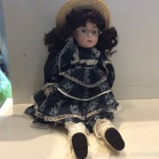 Muñecas Porcelana: MUÑECA PORCELANA CUERPO TRAPO OJOS FIJOS 40 CM. Lote 58490635