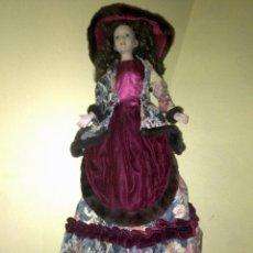 Muñecas Porcelana: ANTIGUA MUÑECA FABRICADA EN PORCELANA O CERAMICA Y TRAPO (APROX. 60 CM) DE ALTURA. Lote 58549627
