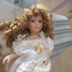Muñecas Porcelana: M69 MUÑECA DE PORCELANA PARA TUMBAR SOBRE CAMA. Lote 58550168