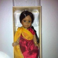 Muñecas Porcelana: MUÑECA PORCELANA INDIA EN SU CAJA, NUEVA INDIA ,DE COLECCIÓN. Lote 61256771