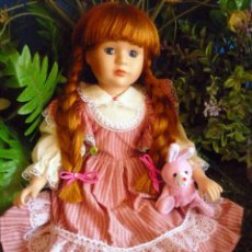 Porzellan-Puppen - MUÑECA PORCELANA MARCA THE PROMENADE COLLECTION - (iMOGEN - A) 40 CM- PRECIOSA ,PELO COBRIZO -LEER+ - 61492959