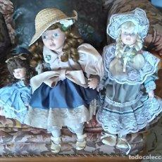 Muñecas Porcelana: TRES MUÑECAS PORCELANA ESTILO VICTORIANO . Lote 61777208