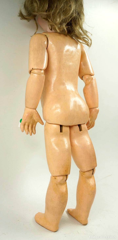 Muñecas Porcelana: MUÑECA CON CABEZA DE PORCELANA, EN BUEN ESTADO. MARCA EN LA NUCA. 56CM ALTURA TOTAL - Foto 10 - 54189913