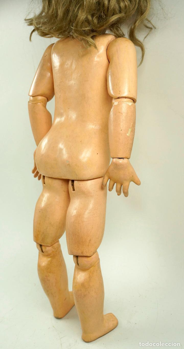 Muñecas Porcelana: MUÑECA CON CABEZA DE PORCELANA, EN BUEN ESTADO. MARCA EN LA NUCA. 56CM ALTURA TOTAL - Foto 11 - 54189913