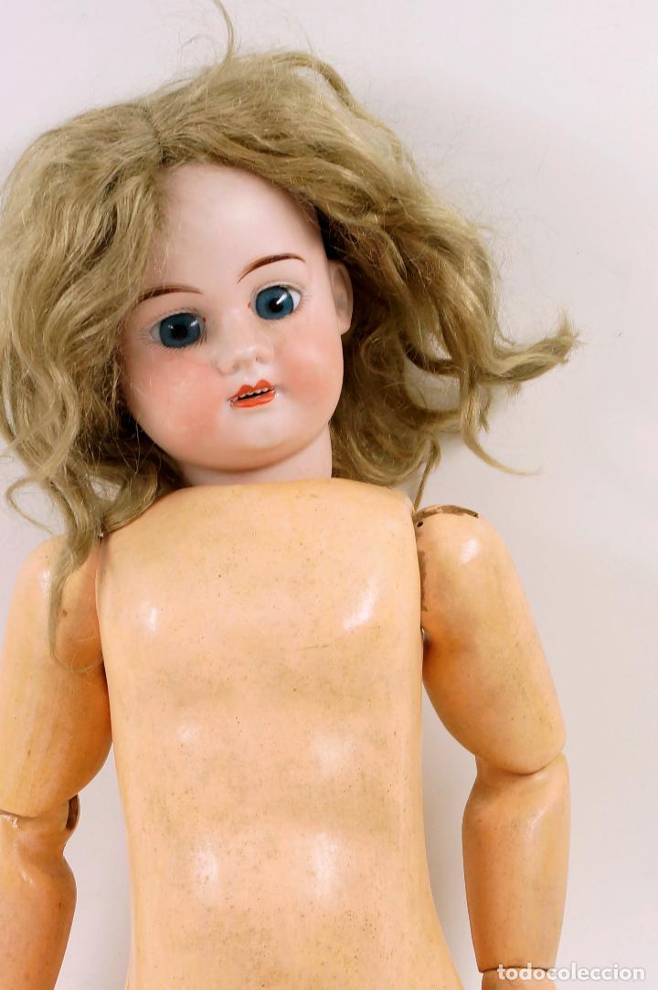 Muñecas Porcelana: MUÑECA CON CABEZA DE PORCELANA, EN BUEN ESTADO. MARCA EN LA NUCA. 56CM ALTURA TOTAL - Foto 12 - 54189913