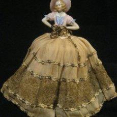 Muñecas Porcelana - ANTIGUA BOMBONERA CON MUÑECA DE PORCELANA PPIO. S. XX - 65009579