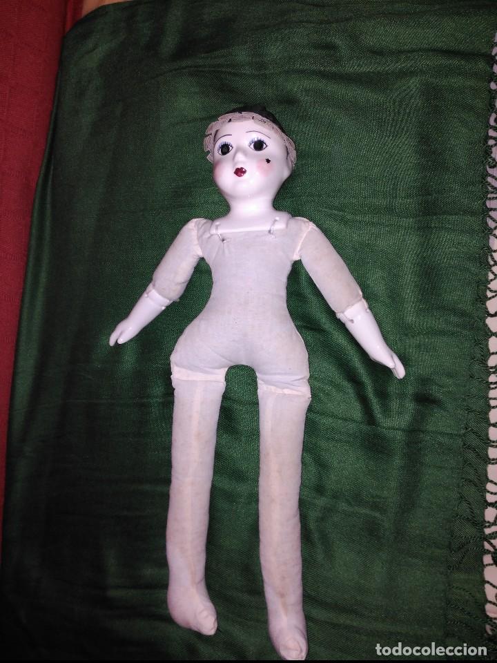 ANTIGUA MUÑECA CARA PIES Y MANOS DE PORCELANA (Juguetes - Muñeca Extranjera Moderna - Porcelana)