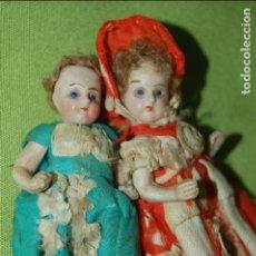 Muñecas Porcelana: PAREJA DE MUÑECAS DE PORCELANA ANTIGUAS. Lote 67525529