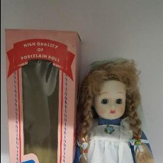 Muñecas Porcelana: MAGNIFICA MUÑECA - EN PORCELANA DOLLS - EN SU CAJA DE ORIGEN - NUEVA SIN USO -. Lote 68349089
