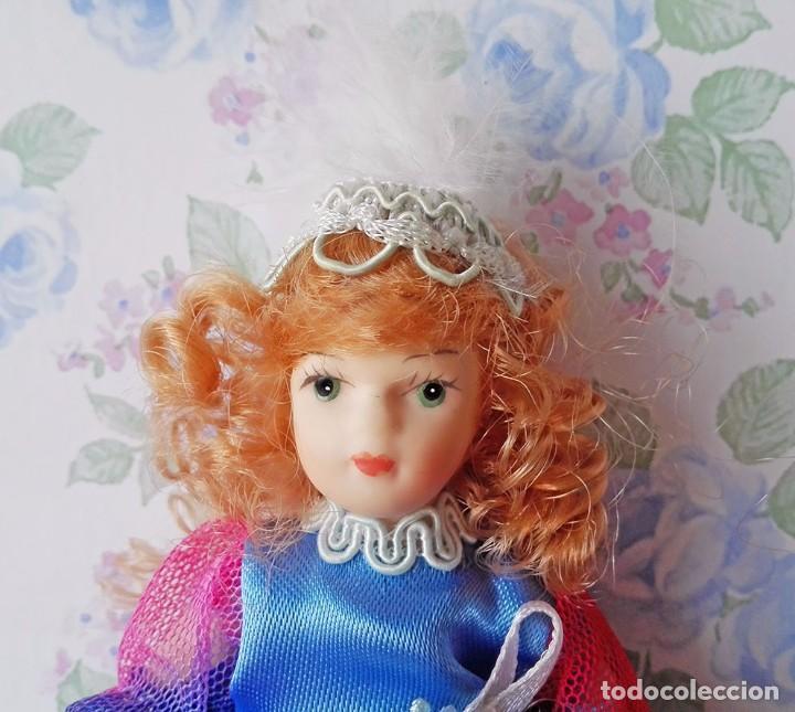 Muñecas Porcelana: Mini muñeca porcelana muñeca pelirroja muñequita miniatura casa muñecas - Foto 4 - 69690661