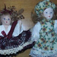Muñecas Porcelana: 2 MUÑECAS PORCELANA - UNOS 10 CM - PB19. Lote 73967166
