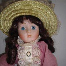 Muñecas Porcelana: MUÑECA ANTIGUA DE PORCELANA, DE LOS AÑOS 90. Lote 74971159
