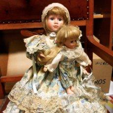 Muñecas Porcelana: MUÑECA DE PORCELANA CON BEBÉ. Lote 75634135