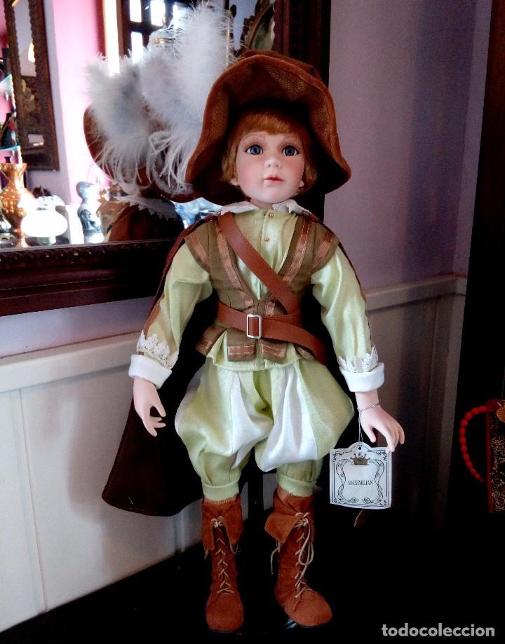 Muñecas Porcelana: MAXIMILIAM, PAJE DE PORCELANA ALEMANA BISCUIT - SERIE LIMITADA -CERTIFICADO-EXPOSITOR - Foto 2 - 147789921