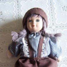 Muñecas Porcelana: MUÑECA PORCELANA Y TRAPO. 20 CMS. CABEZA DE PORCELANA.. Lote 77751825