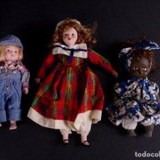 Muñecas Porcelana: LOTE 3 MUÑECAS PORCELANA. Lote 79025345
