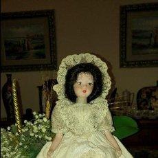 Muñecas Porcelana: PRECIOSA MUÑECA DE PORCELANA. Lote 79620877
