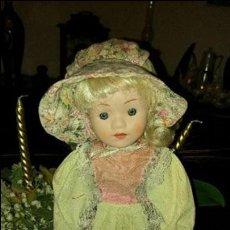 Muñecas Porcelana: PRECIOSA MUÑECA DE PORCELANA. Lote 79622797